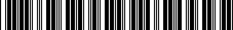 Barcode for M0010AS020